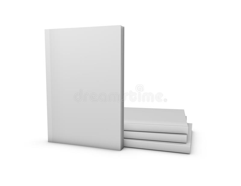 Magazines blank cover mock up template isolated on white background. Magazines blank cover mock up template isolated on white background, 3D illustration vector illustration
