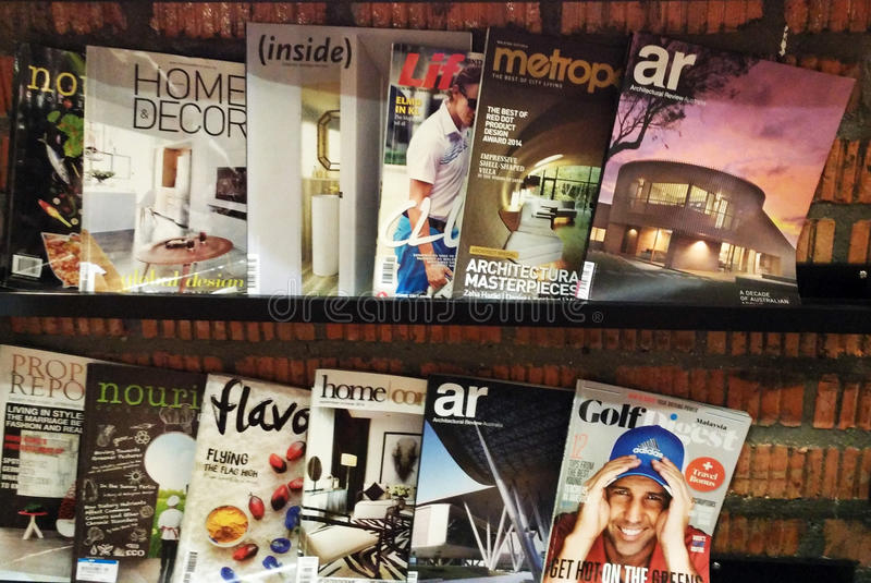 Magazines. On display in a store in Jitra Kedah Malaysia stock photo
