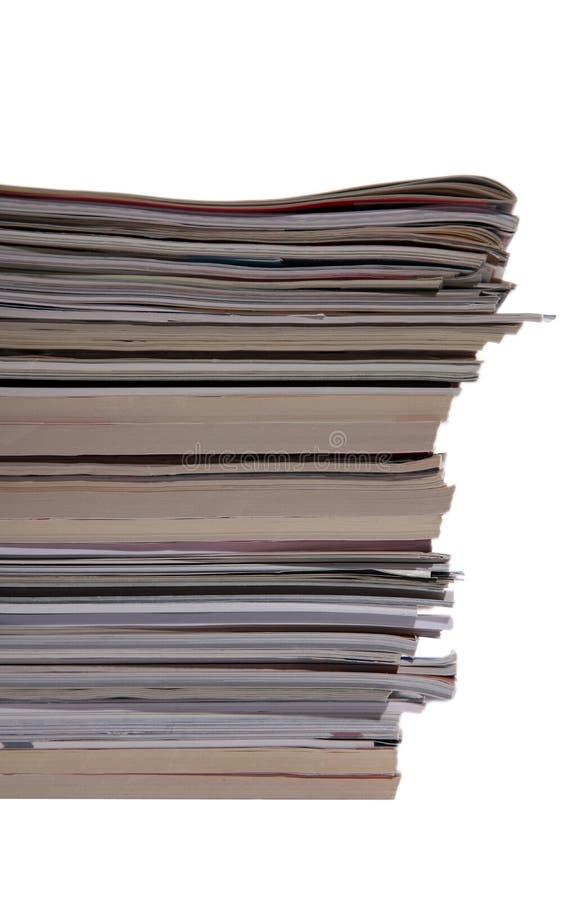 Magazines stack stock photos