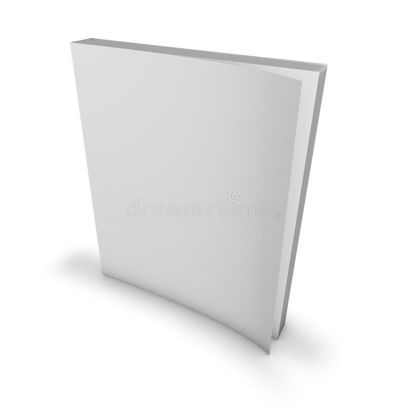 Magazyn, katalog pusta pokrywa, egzamin próbny up ilustracji