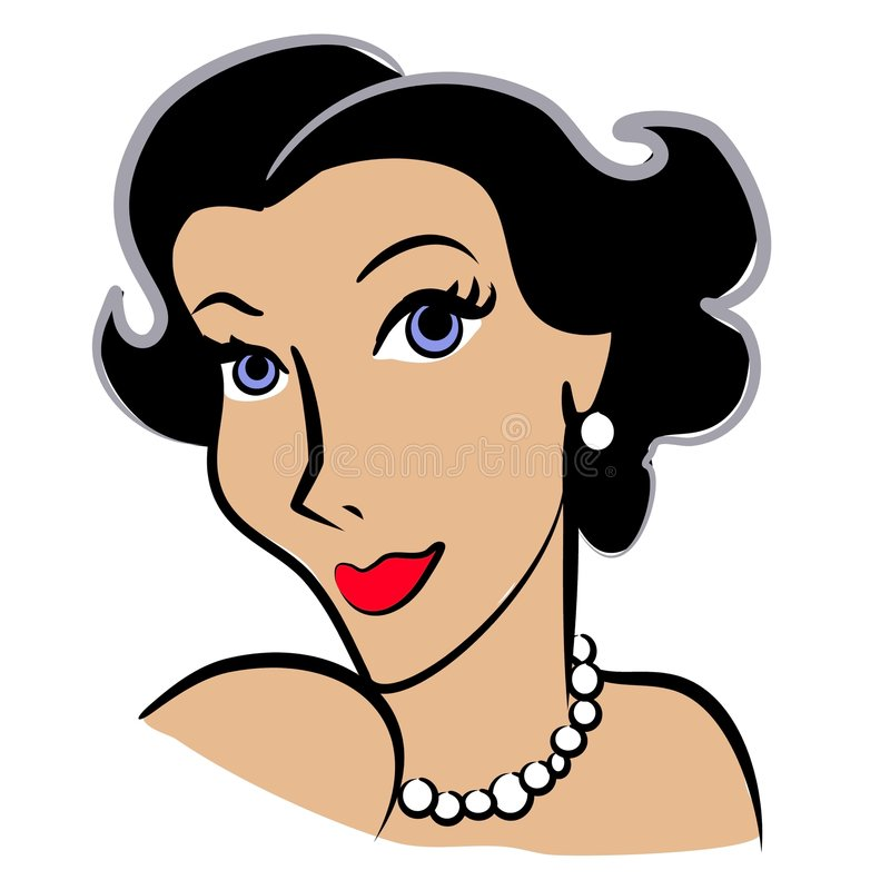 magazynki sztuki mody retro kobieta royalty ilustracja