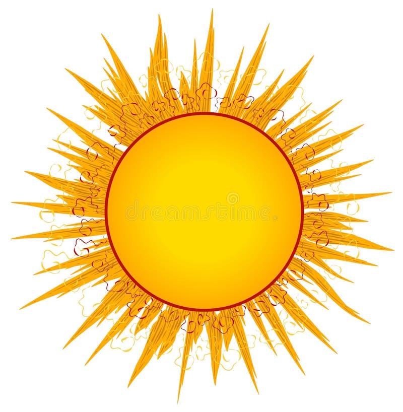 magazynki sztuki słońca sunrays logo royalty ilustracja