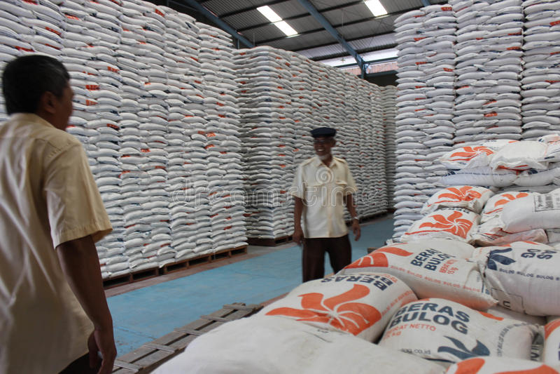 Magazzini di stoccaggio del riso immagine stock