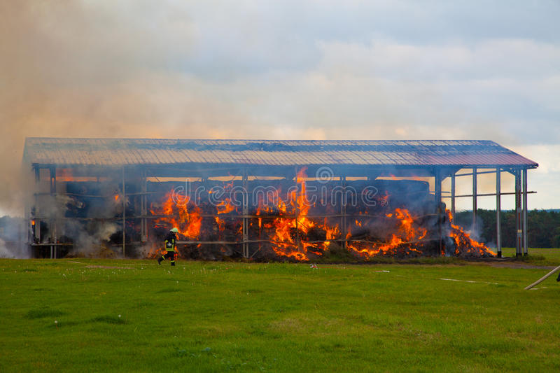 Magazzino Burning immagini stock