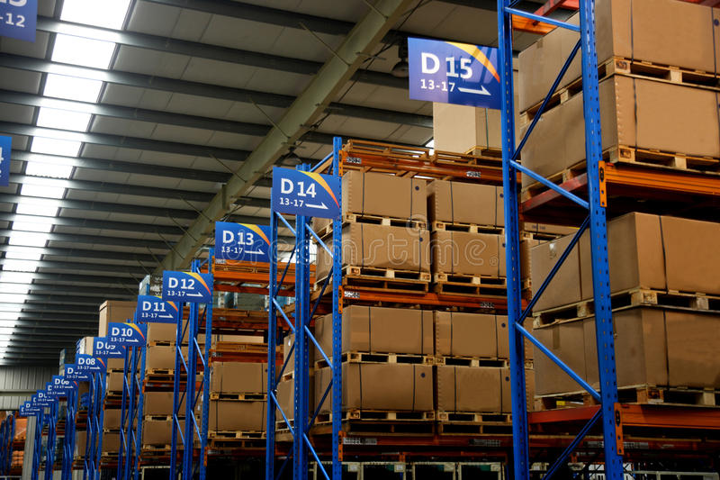 Magazzino di Chongqing Minsheng Logistics Auto Parts immagini stock libere da diritti