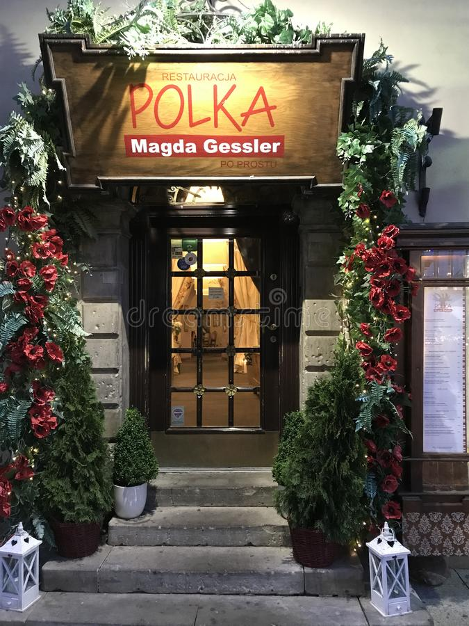 Magda Gessler restaurang i Warszawa royaltyfri bild