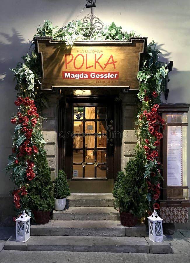 Magda Gessler restaurang i Warszawa arkivbilder