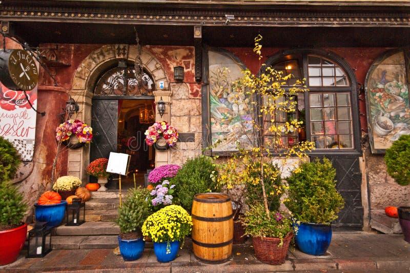 Magda Gessler restaurant in Warsaw stock photo
