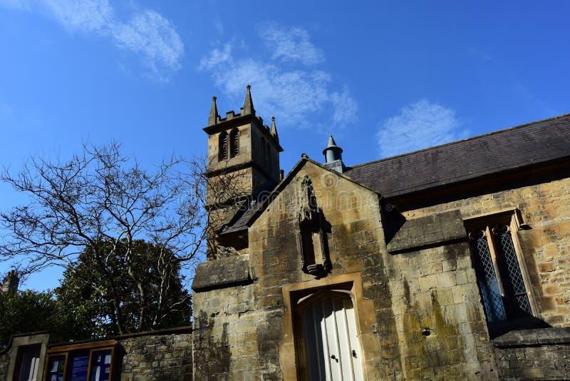 The Magdalen Chapel, Bath, England.  25 April 2018. BATH, ENGLAND, UNITED KINGDOM - Apr 25, 2018: The Magdalen Chapel, Bath, England.  25 April 2018. The chapel stock photo