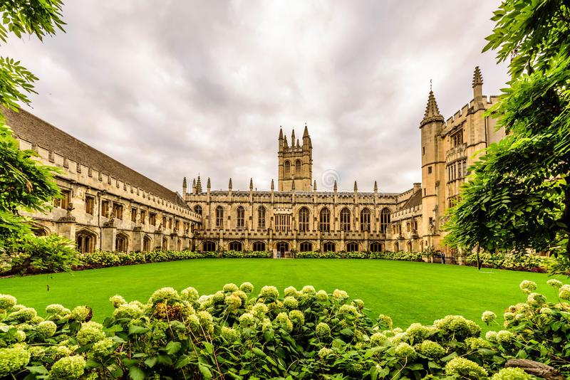 Magdalen College, Oxford University, Oxford, England. royalty free stock photo