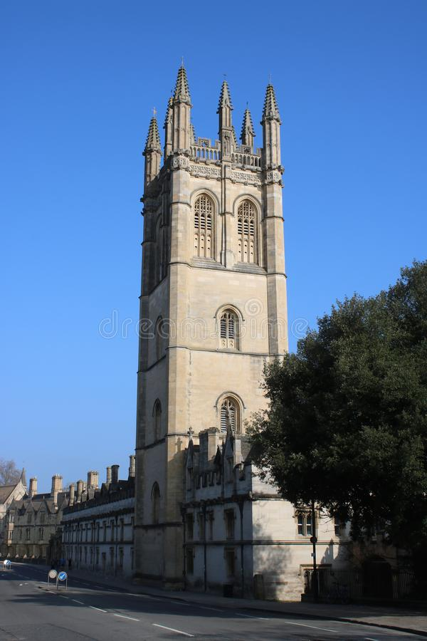 Magdalen College Tower, Oxford, Angleterre photo libre de droits