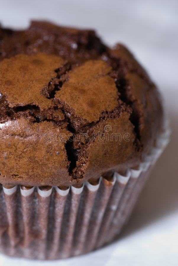 Magdalena del dulce de azúcar de chocolate fotografía de archivo