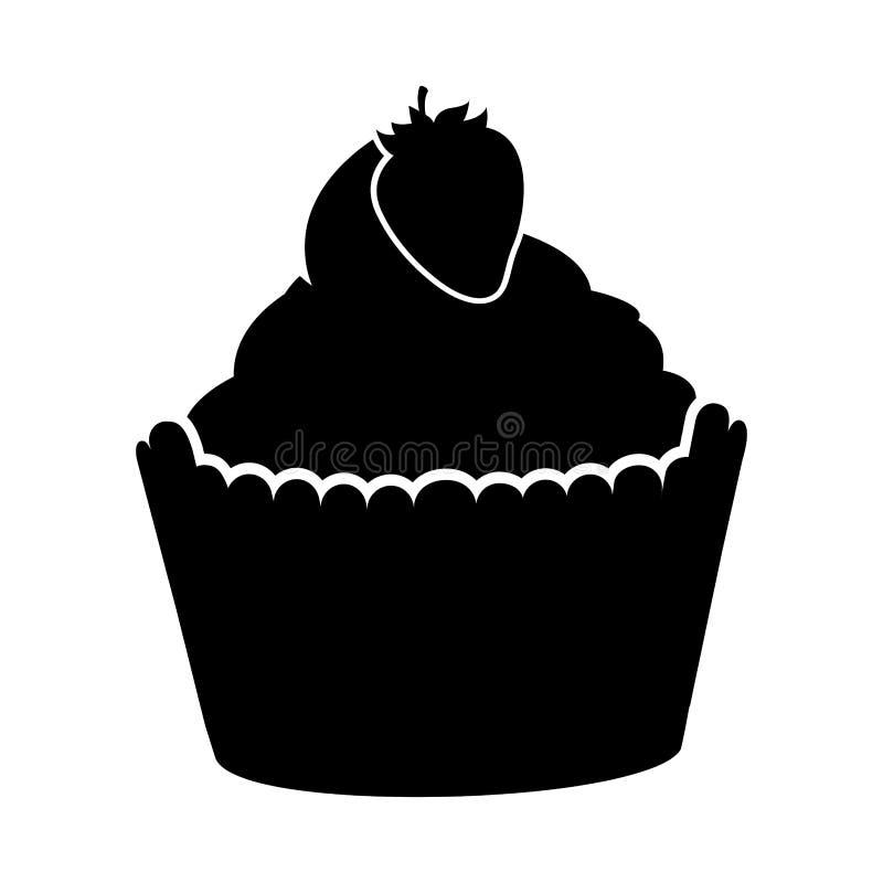 Magdalena deliciosa con el icono aislado fresa libre illustration