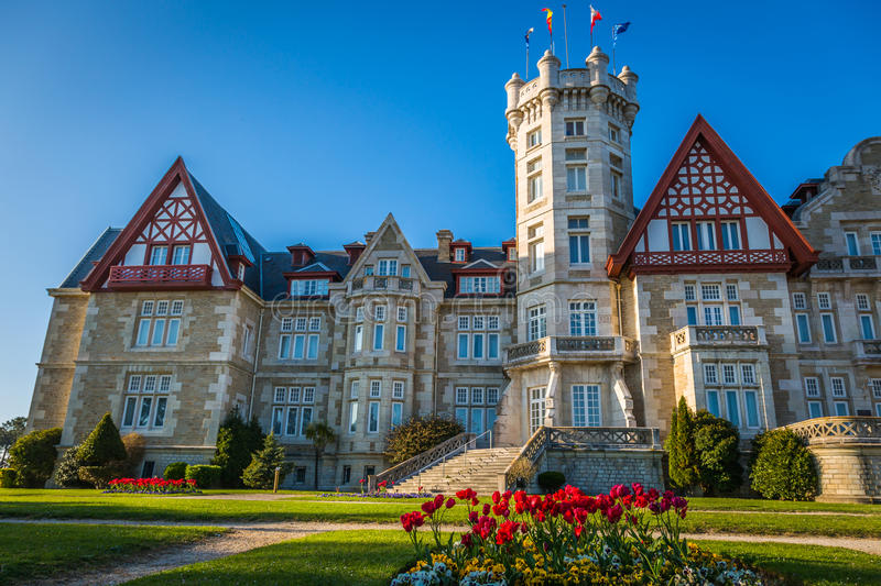 Magdalena palace in Santander, Cantabria, Spain royalty free stock photography
