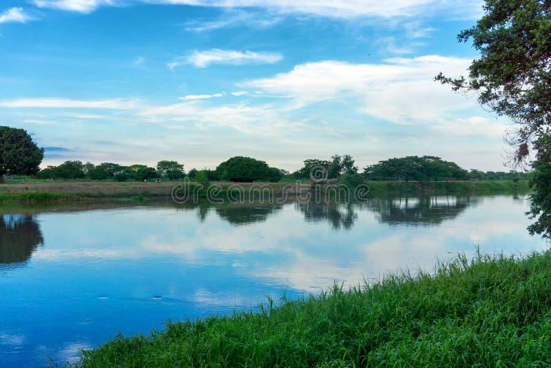 Magdalena River View imagem de stock royalty free
