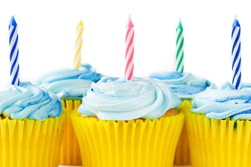 Magdalenas del cumpleaños foto de archivo libre de regalías