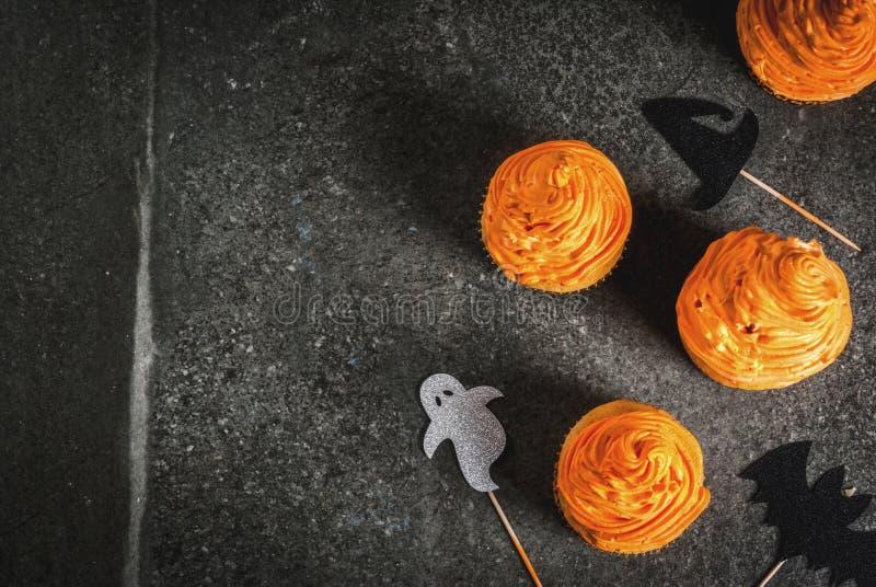 Magdalenas divertidas para Halloween fotografía de archivo libre de regalías