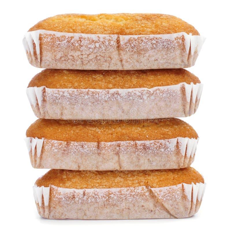 Magdalenas largas, typisk spanjor plattar till muffin arkivfoton