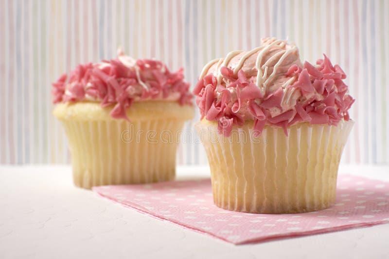 Magdalenas rosadas foto de archivo libre de regalías