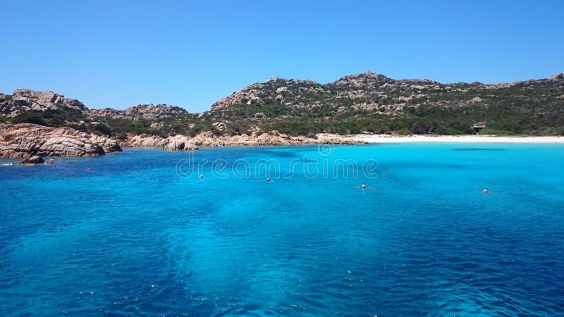 Magdalene-Insel in Sardinien lizenzfreie stockfotos