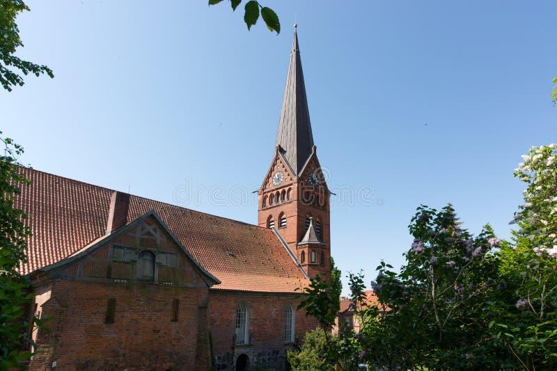Magdalenenkirche in Lauenburg, Duitsland royalty-vrije stock afbeelding