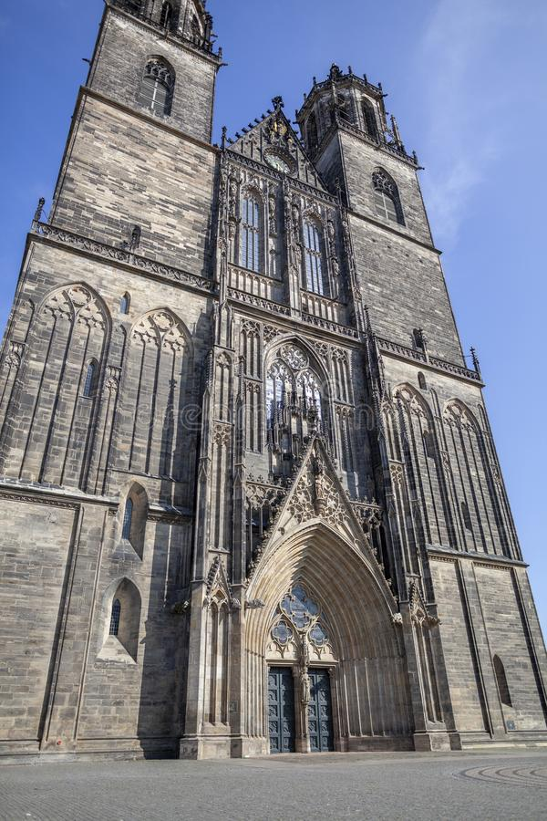 Magdeburger Dom Magdeburg Cathedral imagenes de archivo