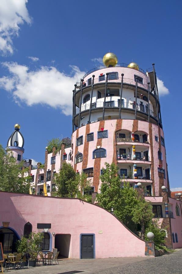 Magdeburski Hundertwasser Haus obraz stock