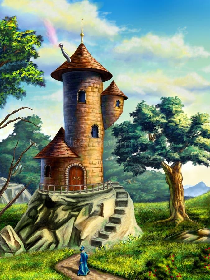 mage πύργος διανυσματική απεικόνιση