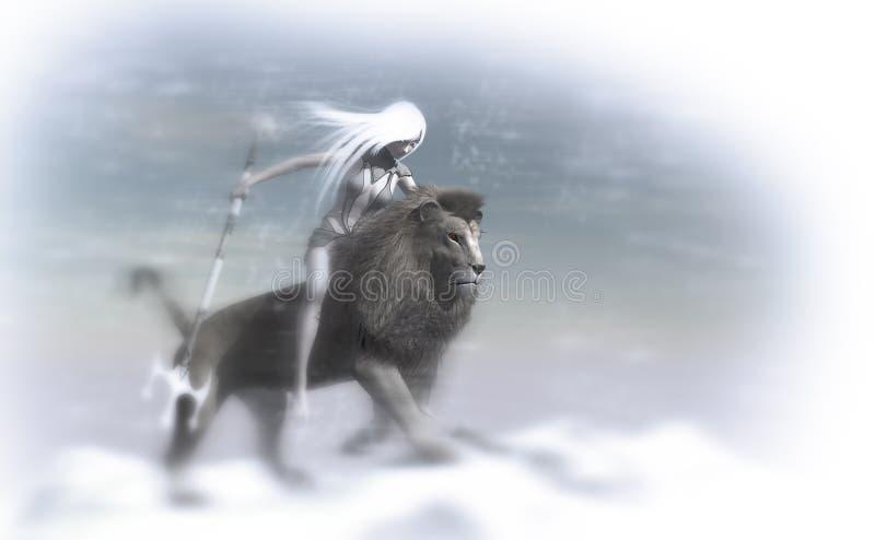 Mage del hielo stock de ilustración