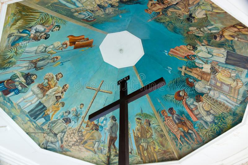 Magellan`s Cross Cebu City Philippines. Cebu, Philippines - September 29, 2018: Magellan`s Cross at Cebu City, Philippines. Christian cross set by Magellan when royalty free stock images