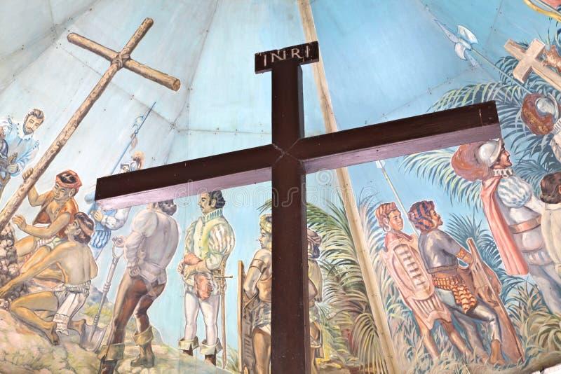 Download Magellan's Krzyż W Cebu, Filipiny Obraz Stock - Obraz złożonej z krzyż, mural: 28951761