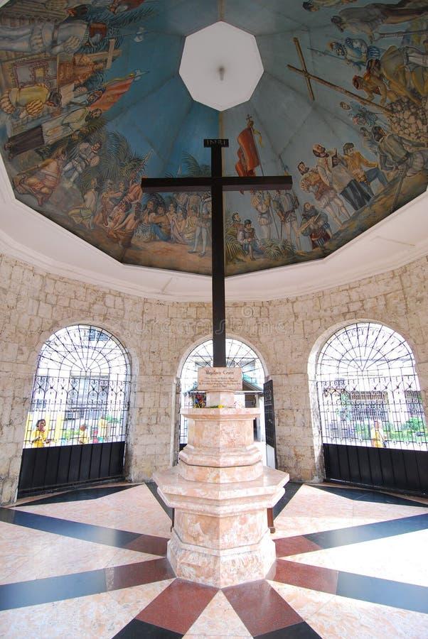 Magellans Kreuz in der Cebu-Stadt stockfoto