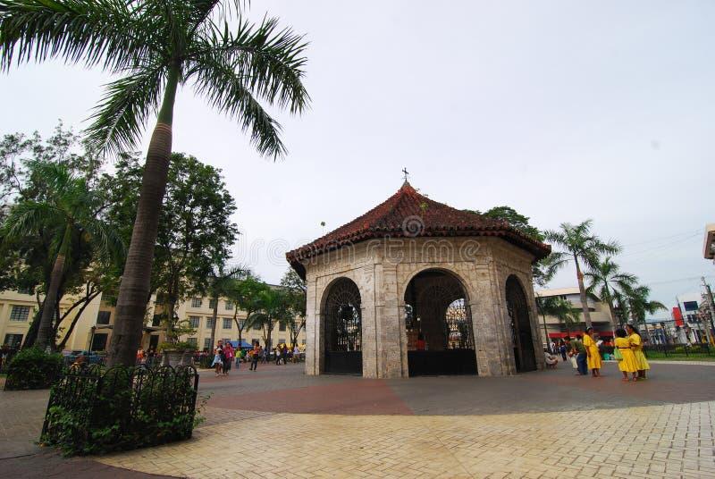 Magellans Kreuz in der Cebu-Stadt, Philippinen stockbilder