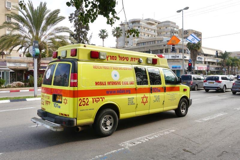 Magen David Adom Ambulance imágenes de archivo libres de regalías
