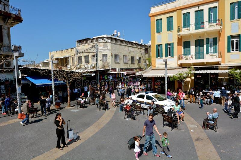 Magen David Square i Tel Aviv - Israel arkivfoto