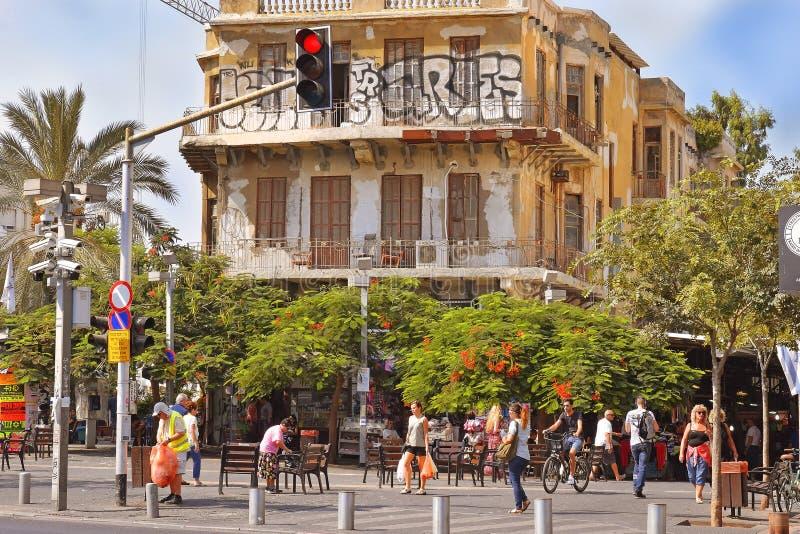 Magen David Square i Tel Aviv, Israel royaltyfria bilder