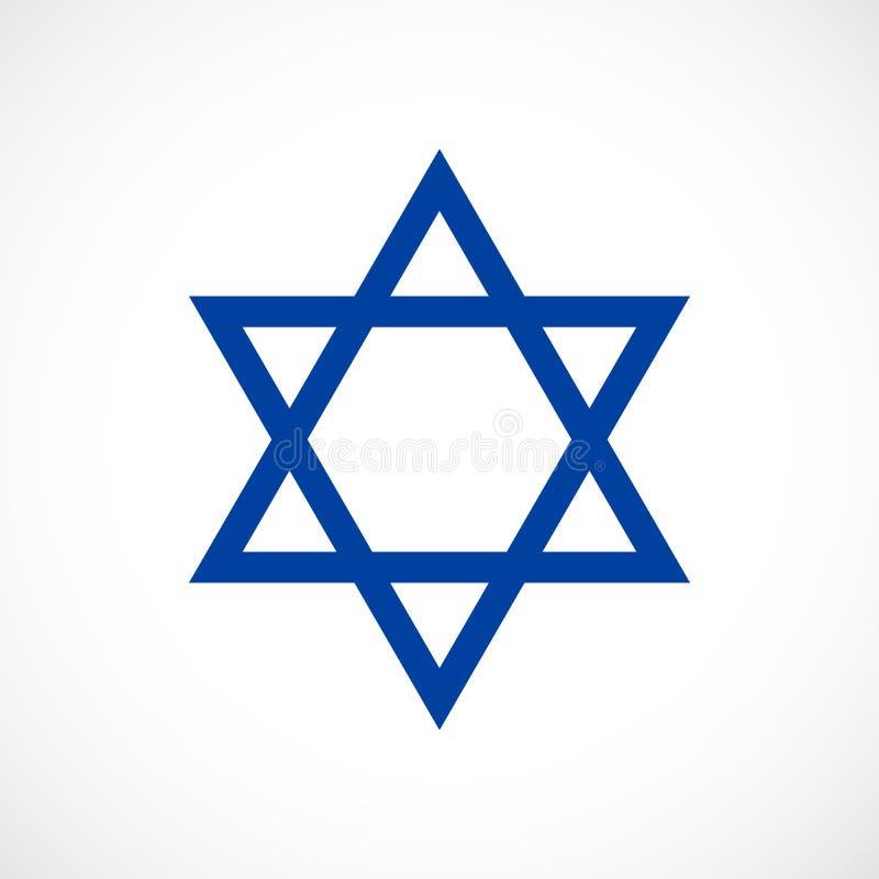 Magen David vector star icon. Illustration stock illustration