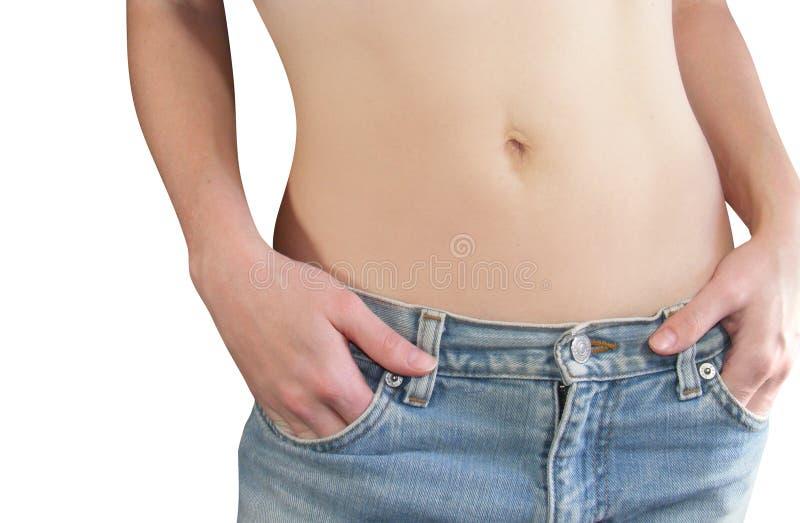 Magen der Frau getrennt stockfoto