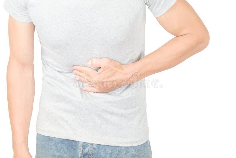 Magenschmerzen in den alten Frauen stockbild