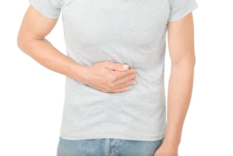 Magenschmerzen in den alten Frauen stockfotos