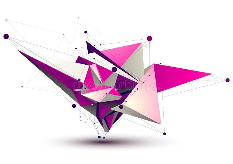 Magenta конструкция технологии сверстницы eps8 иллюстрация вектора