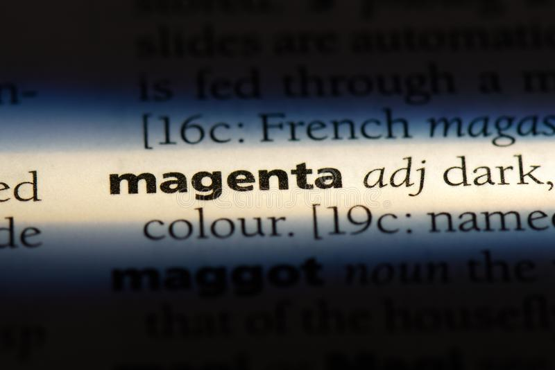 magenta photo stock