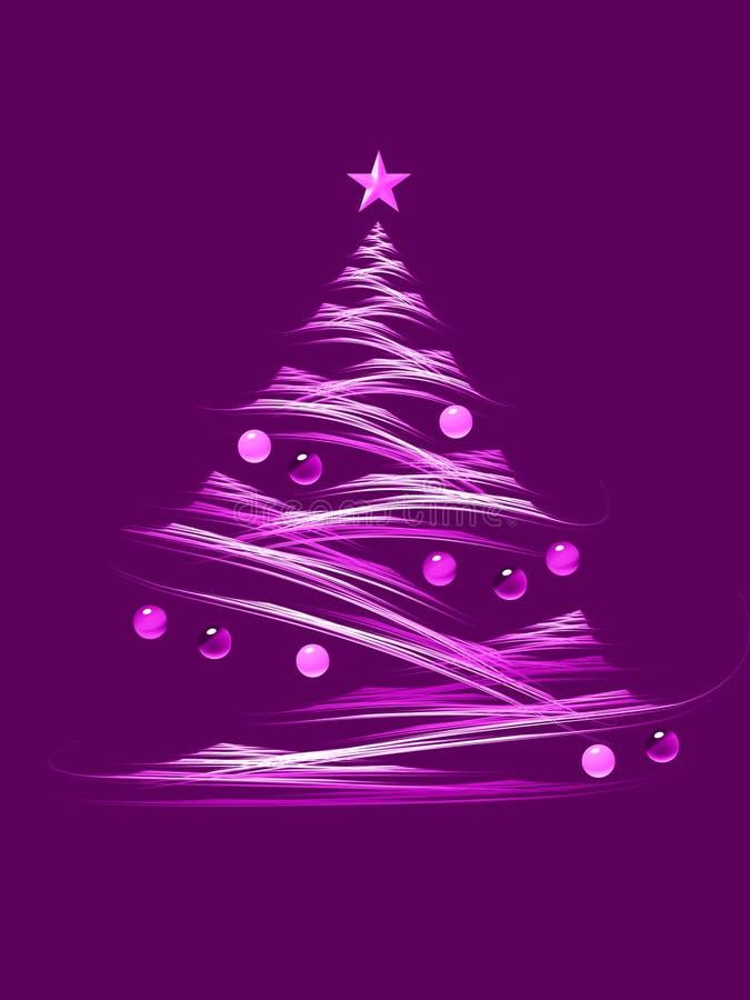 Magenta christmas tree vector illustration