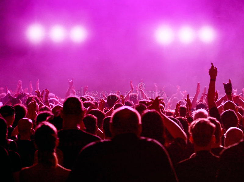 Magenta Concert royalty free stock photography