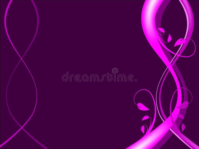 Magenta Floral Background stock illustration