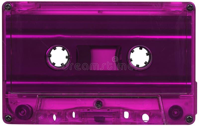 Magenta gekleurde cassetteband royalty-vrije stock foto