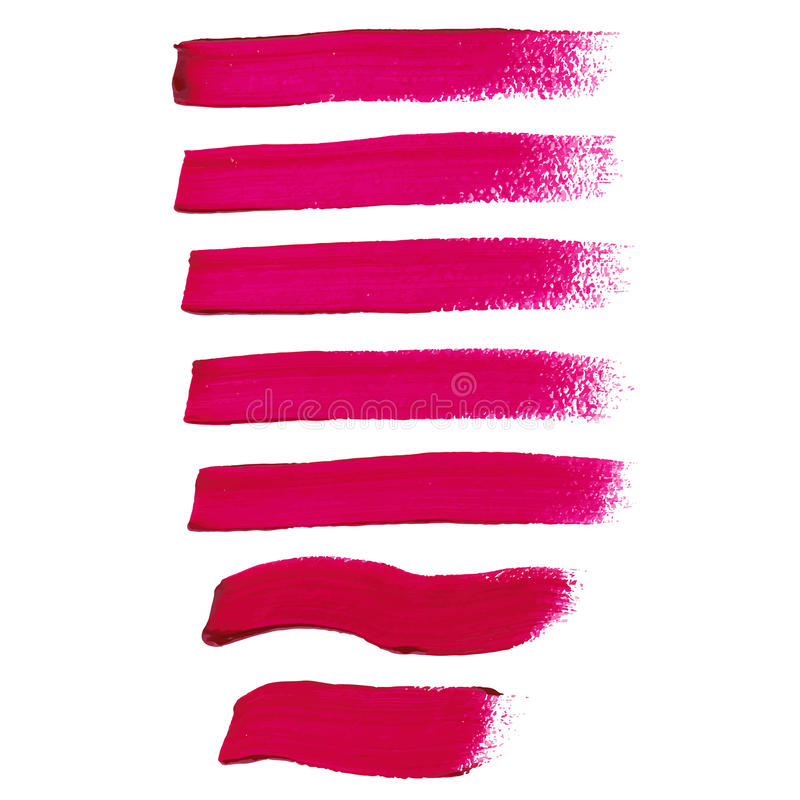 Free Magenta Ink Brush Strokes Royalty Free Stock Image - 45295726