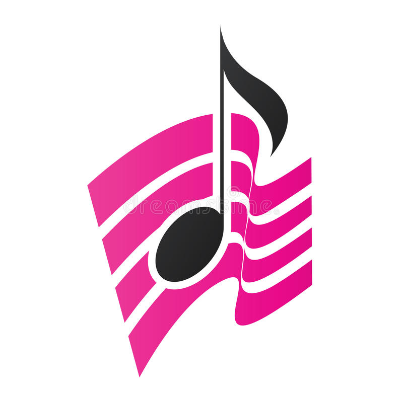 Magenta Musical Note royalty free illustration