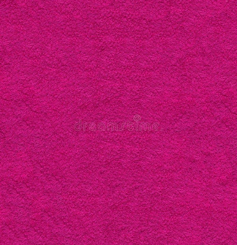 Magenta naturalny mokiet textured tkaniny tła zbliżenia makro- teksturę zdjęcie royalty free