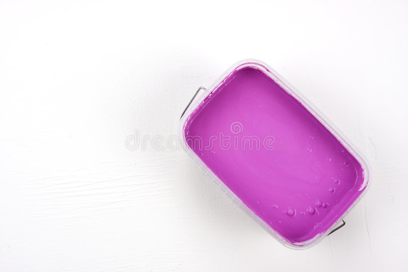 Magenta paint royalty free stock photography